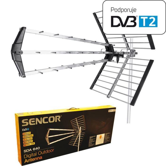 DVB-T2 ANTÉNA VENKOVNÍ SENCOR SDA-640 4G
