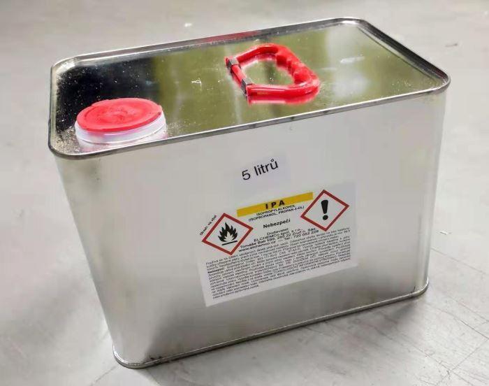 ISOPROPYLALKOHOL čistý, 5000ml (IZOPROPANOL) - plechový kanystr