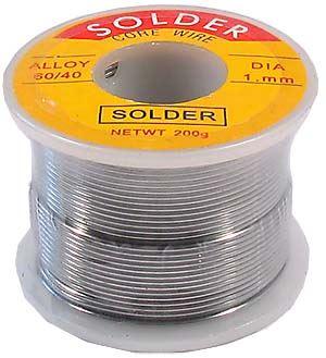 Pájka trubičková 1mm 200g 70%Sn 30%Pb+tavidlo