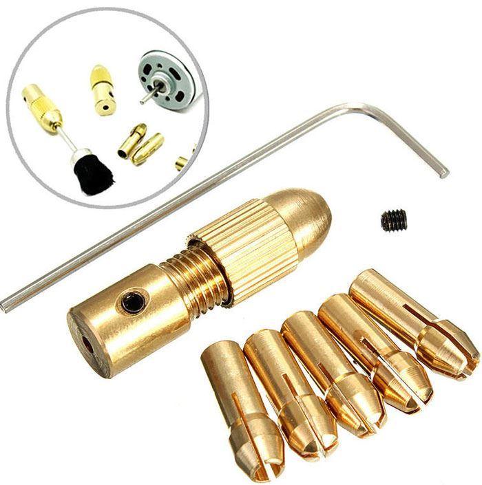 Sklíčidlo 0,3-3mm pro minivrtačky, 5x kleština, pro hřídel 2,3mm