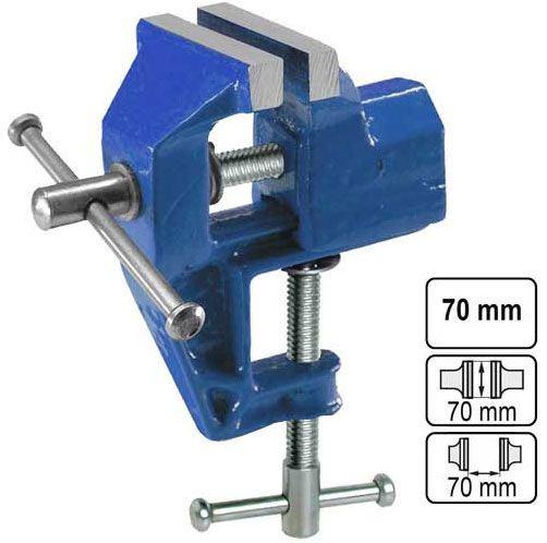 Svěráček 70 mm kovový pevný, uchycení svorkou