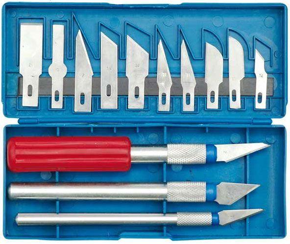 Nože na vyřezávání, 16 dílů, Hobby