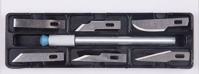 Nože na vyřezávání, 6 dílů, Hobby