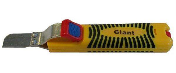Odizolovací nůž GIANT, nastavitelný 8-28mm s rovnou čepelí