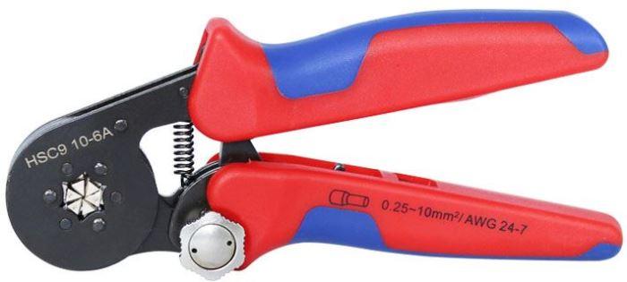 Kleště lisovací HSC9 10-6A pro dutinky 0,25-10mm2