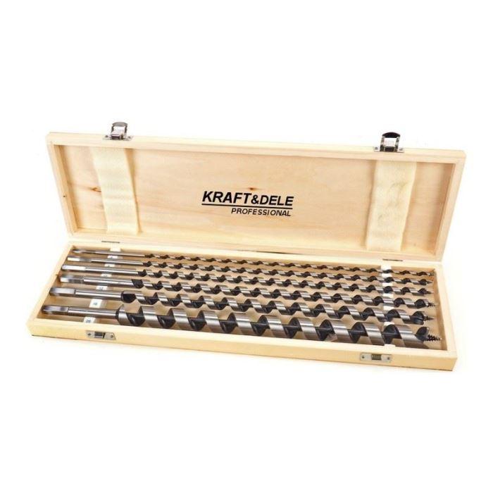 Vrtáky hadovité do dřeva, sada 6ks, 6-18mm, délka 230mm, Kraft Dele