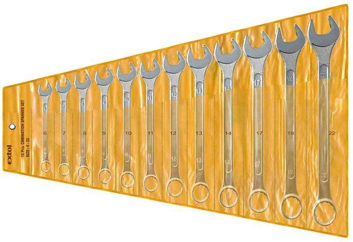 Sada očkoplochých klíčů EXTOL 6333B, 12ks
