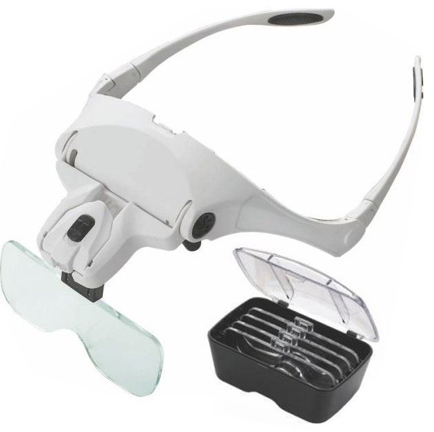 Zvětšovací brýle s lupou, zvětšení 1-3,5x, osvětlení LED