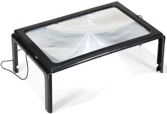 Čtecí lupa A4 v rámečku s LED světlem, pracovní lupa MG275205