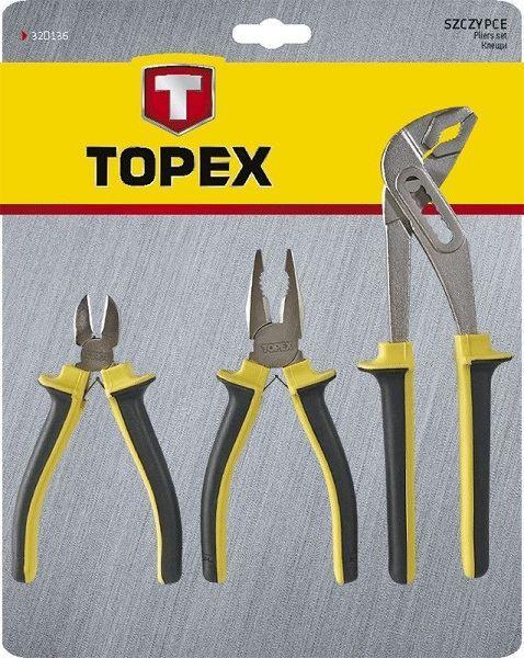 Sada kleští  - 3 kusy, TOPEX