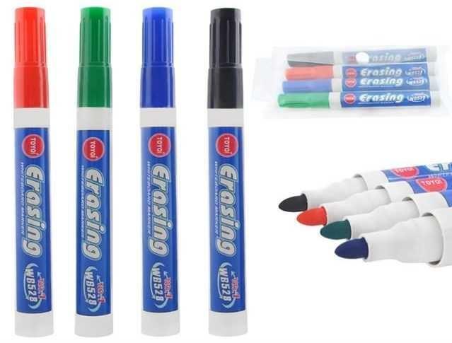 Sada popisovačů Erasing na whiteboardy a bílé tabule-4 barvy,2,8mm