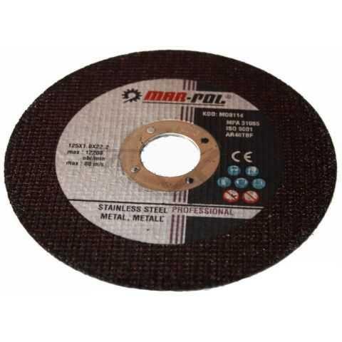 Kotouč řezný na ocel, nerez, 125x1,0x22,2mm MAR-POL