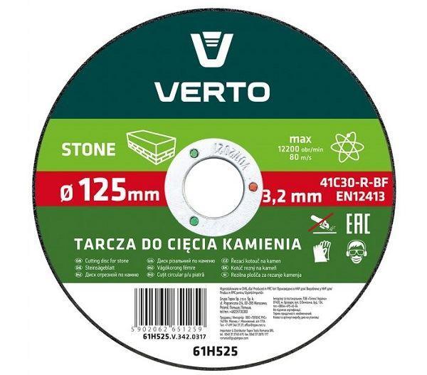 Kotouč řezný na kámen,125mm, 3,2mm x 22,2mm, VERTO