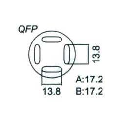 Nástavec na vyfoukávačku QFP 13,8x13,8mm