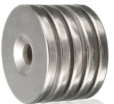 Neodymový magnet N35 25x3mm, balení 5ks