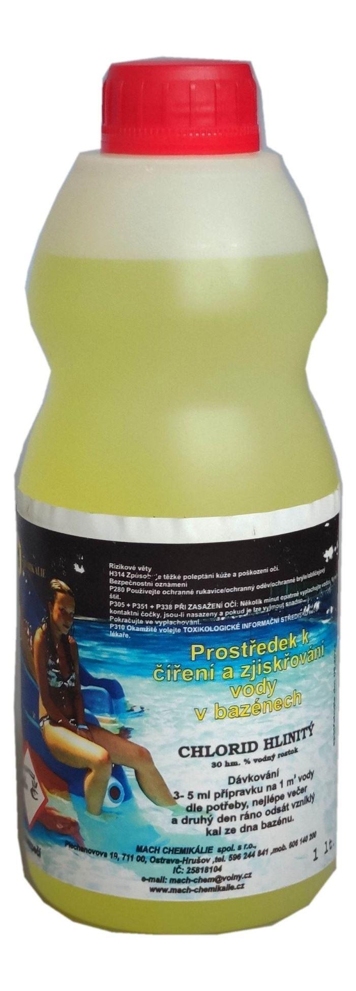 Prostředek k číření a zjiskřování vody v bazénech, 1 litr