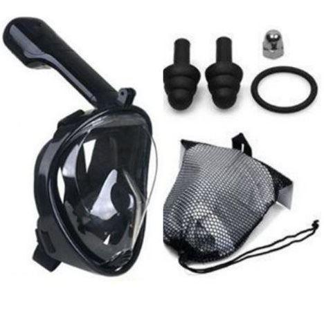 Maska na šnorchlování vel. L/XL, černá