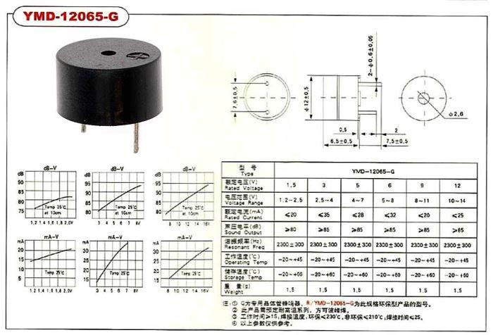 Piezobzučák 12mm,napájení 10-14V/25mA
