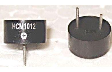 Piezobzučák HCM1012, 10mm, napájení 3-12V/25mA