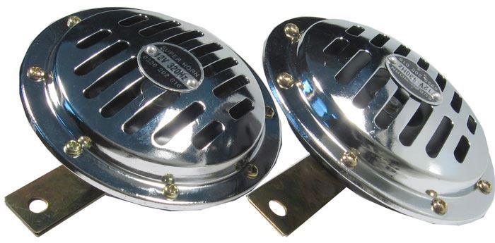 Houkačka, klakson 12V, 115dB/m, 2ks, disk 125mm