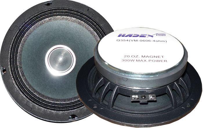 """Repro 165mm-6,5"""" středový 8ohm - 200W peak / 100W RMS, 120Hz–13kHz"""