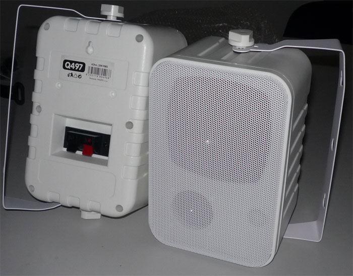 Reproskříňky venkovní bílé, 4ohm/20W, repro 100mm