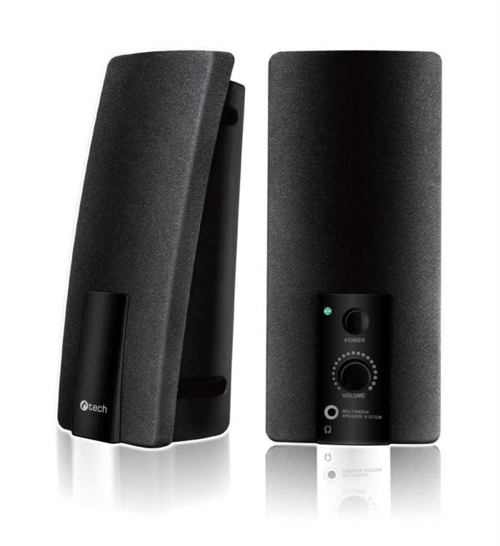 Reproduktory, C-TECH SPK-01, 2.0, černé, USB