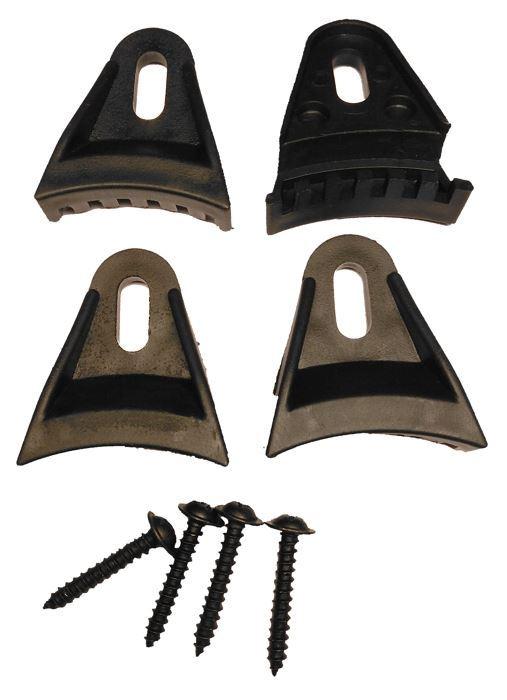Sada 4 ks úchytů pro repro-kryt, plastová, černá