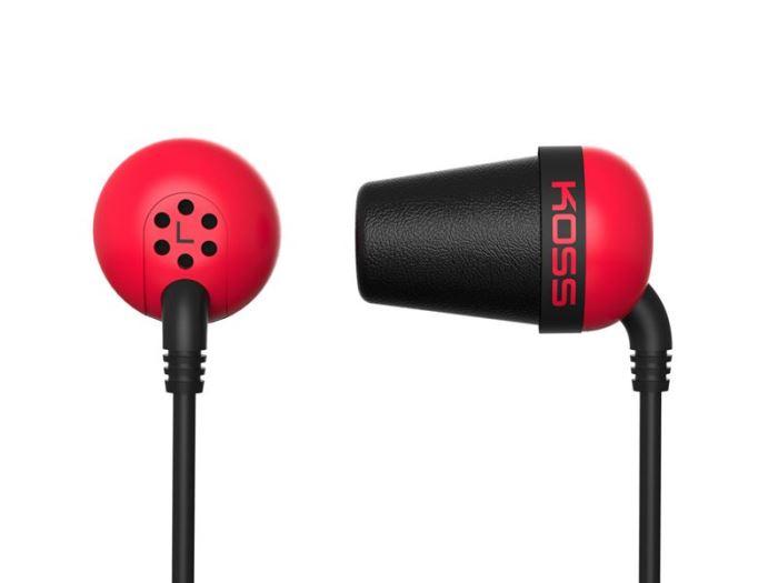 Sluchátka KOSS The PLUG Red sportovní design, červené