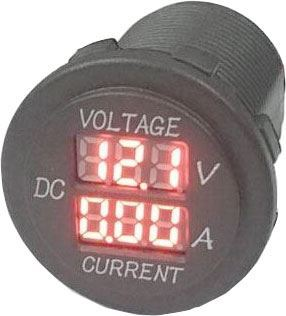 Voltmetr+ampérmetr panelový DS8010,nový, chybí matice