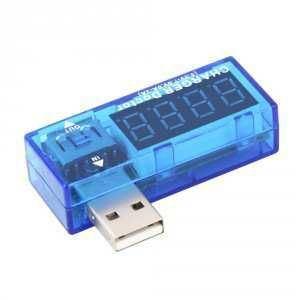 USB  tester - voltmetr a ampérmetr 3-7,5V/0-3A DC, AK306B