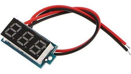 Voltmetr panelový LED červený, 3-30V