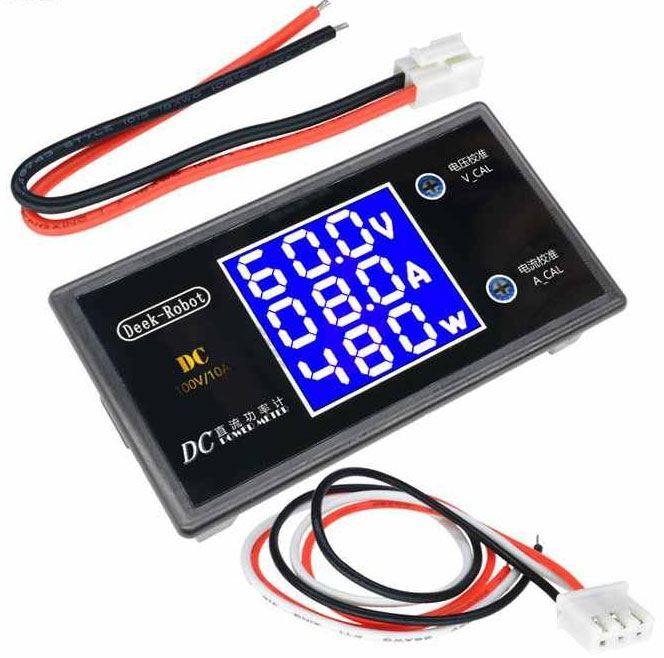 Ampérmetr,voltmetr, wattmetr panelový 10A 100VDC Deek Robot
