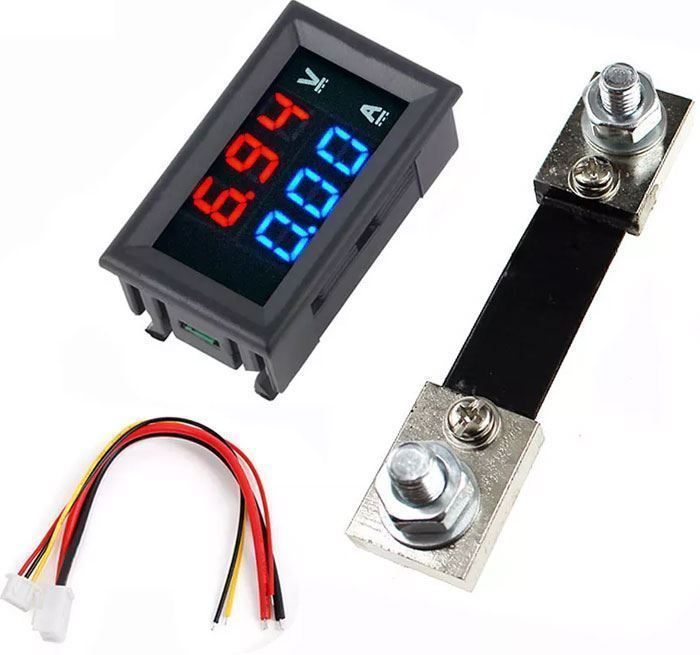 Ampérmetr / voltmetr panelový 100V 0-10A 0-100A DC DSN VC288