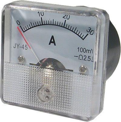 JY-45 panelový MP 30A=(100mV) 45x45mm, bez bočníku