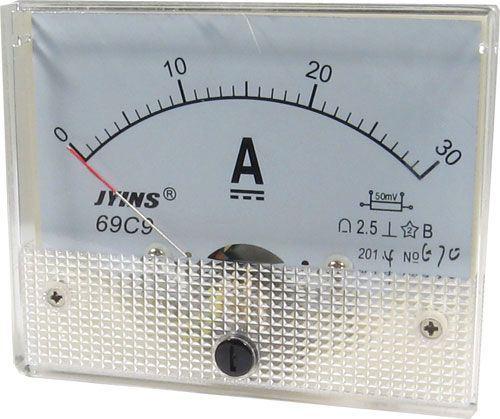 69C9 panelový MP 30A=(50mV) 80x65mm, bez bočníku