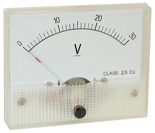 Analogový panelový voltmetr 69C9 30V DC