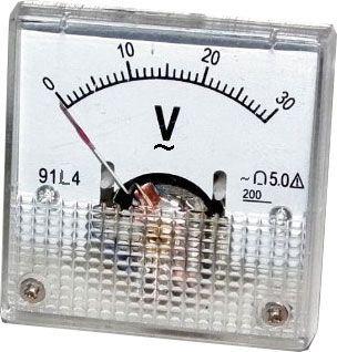 Analogový panelový voltmetr 91L4 30V~ AC