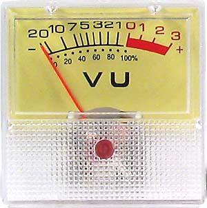 ZJ-40 panelový VU metr -20+3dB, 500uA  40x40mm