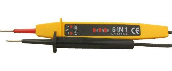 Zkoušečka DC 4,5-400V/ AC110-400V s indikací polarity