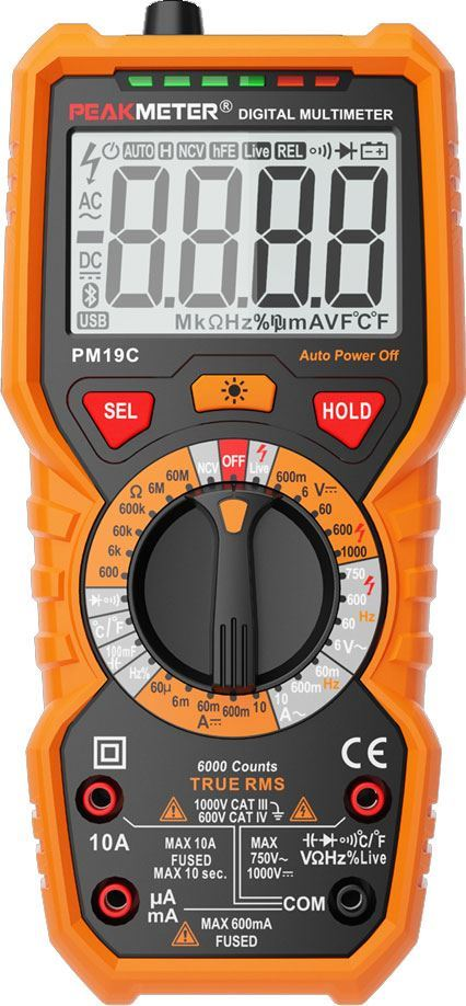 Multimetr PEAKMETER PM19C, TRUE RMS