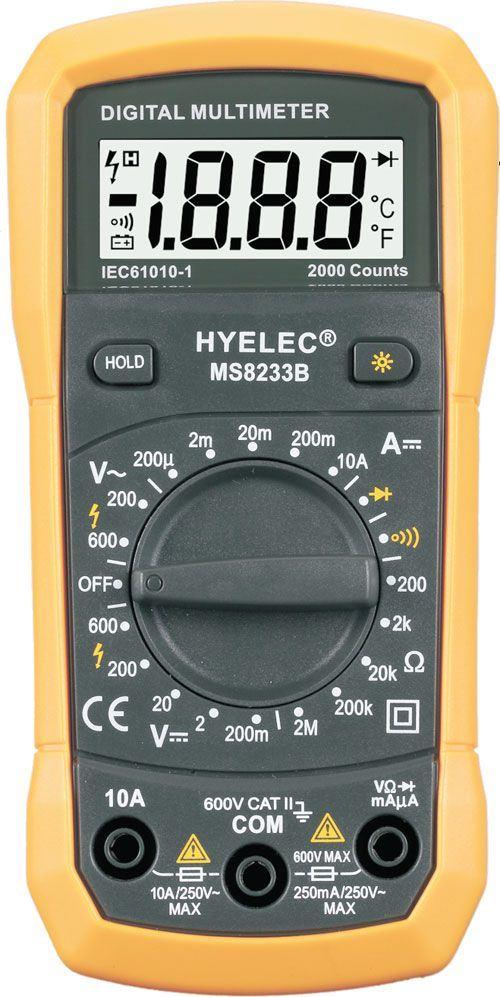 Multimetr HYELEC MS8233B