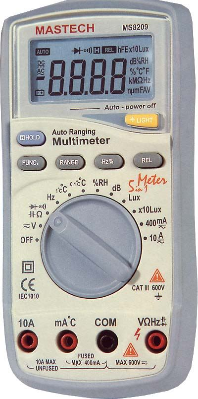 Multimetr MASTECH MS8209 s měřením neelektrických veličin