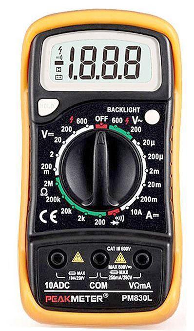 Multimetr PeakMeter PM830L /MAS830L/