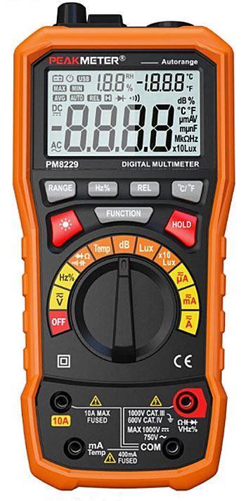 Multimetr PEAKMETER PM8229 multifunkční