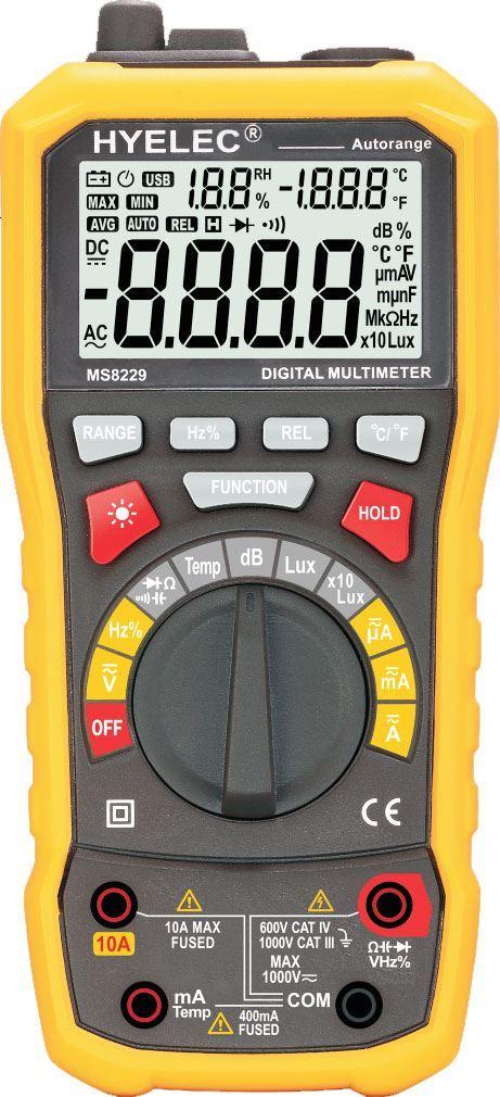 Multimetr PEAKMETER PM8229 multifunkční, neměří odpor, kapacitu a T