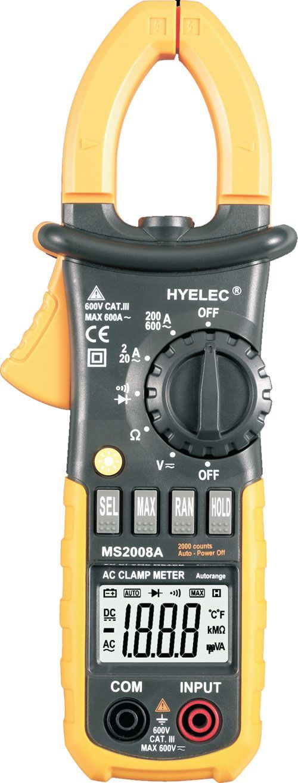 Multimetr PeakMeter MS2008A klešťový
