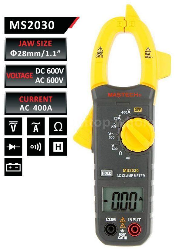 Multimetr MASTECH MS2030 klešťový