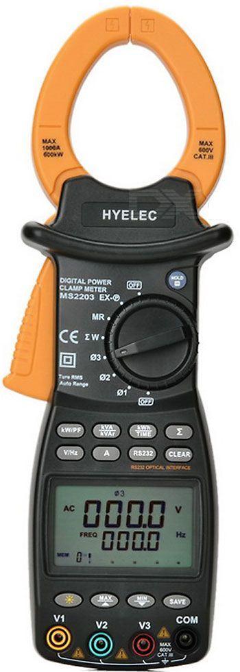 Multimetr HYELEC MS2203 klešťový 1/3 fázový