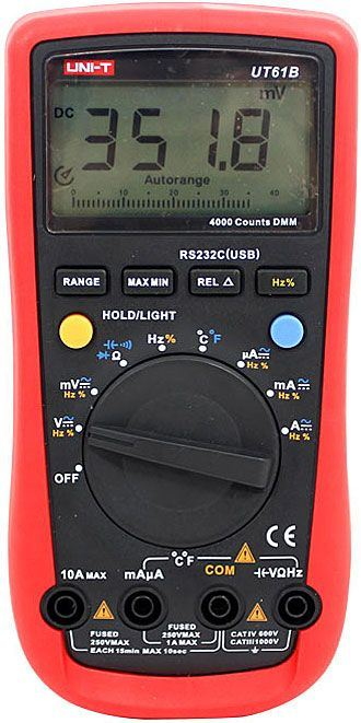 Multimetr UT61B UNI-T,automat,USB-optické rozhraní
